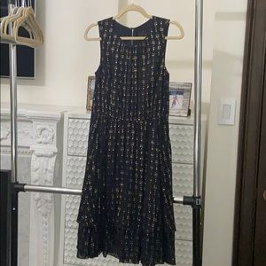 Navy, gold JCrew dress, new with tags on